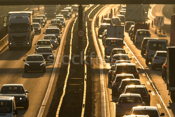 Heavy morning city traffic/congestion concept  Stock photo © lightpoet