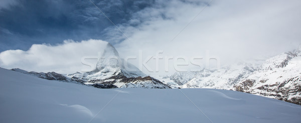 Incroyable hiver panorama Suisse plage nature Photo stock © lightpoet