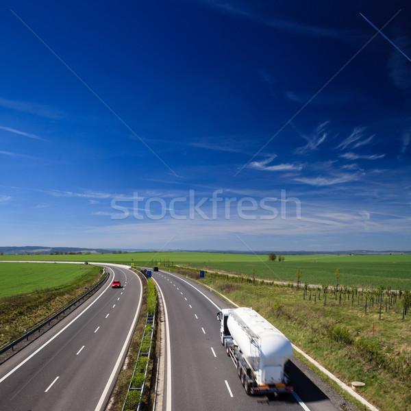 Сток-фото: шоссе · движения · Солнечный · лет · день · бизнеса