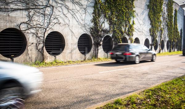 Photo stock: Ville · trafic · mouvement · floue · image · voiture