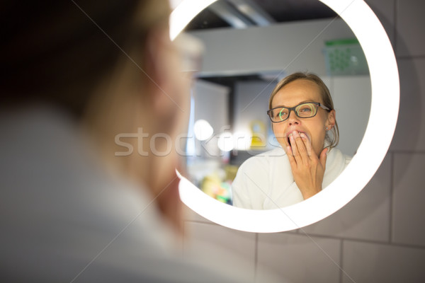 Сток-фото: ванную · зеркало · утра