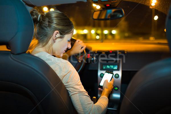 довольно вождения Новый автомобиль Сток-фото © lightpoet