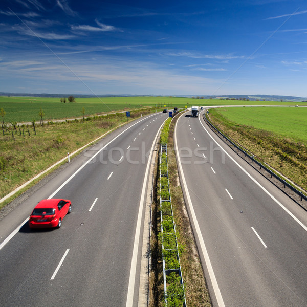 highway traffic on a lovely, sunny summer day Stock photo © lightpoet