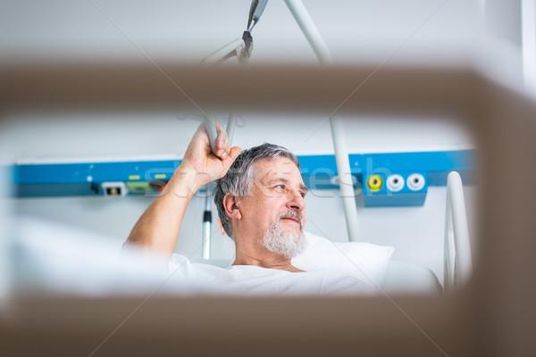 Senior male patient in a modern hospital  Stock photo © lightpoet