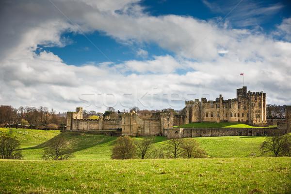 Alnwick Castle, Northumberland - England Stock photo © lightpoet