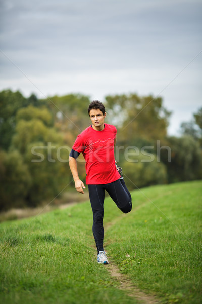 Moço pernas diariamente correr raso Foto stock © lightpoet