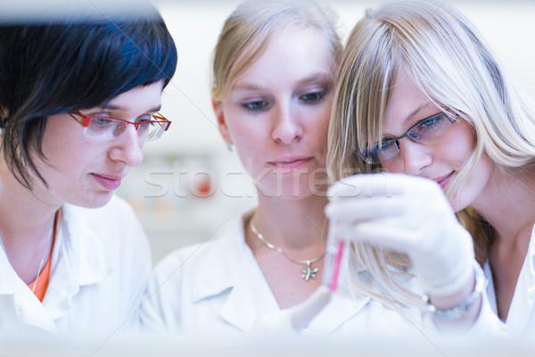 Stockfoto: Vrouwelijke · onderzoeker · uit · onderzoek · chemie