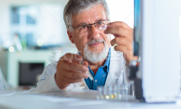 Senior chemistry professor/doctor  in an analytical chemistry lab Stock photo © lightpoet