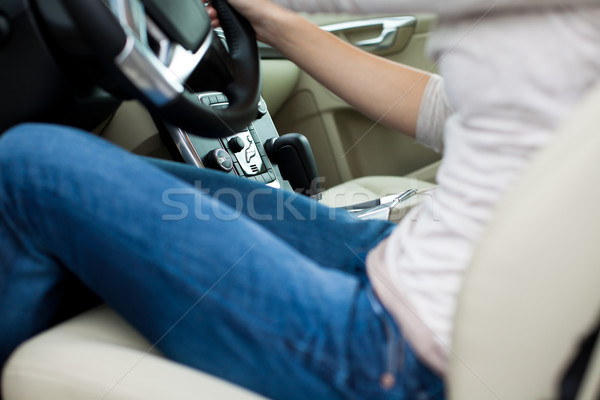 woman driving a car Stock photo © lightpoet