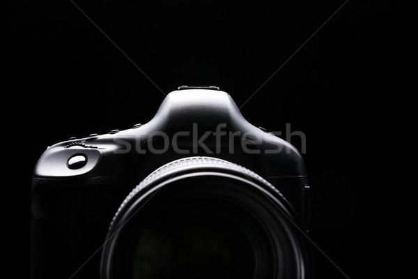 Professional modern DSLR camera low key image - Modern DSLR came Stock photo © lightpoet