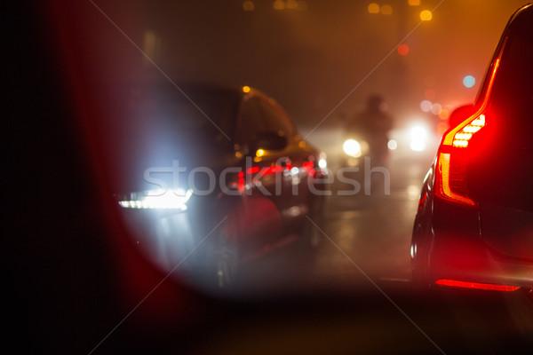 Сток-фото: город · автомобилей · движения · автомобилей · дороги · воздуха