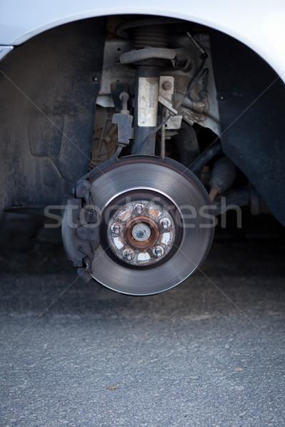 Foto stock: Mecánico · rueda · moderna · coche · color · invierno