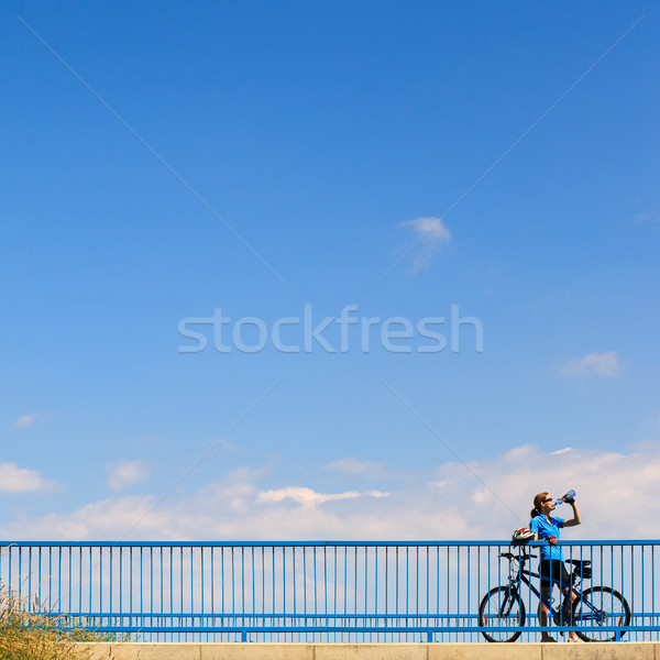 Background for poster or advertisment pertaining to cycling Stock photo © lightpoet