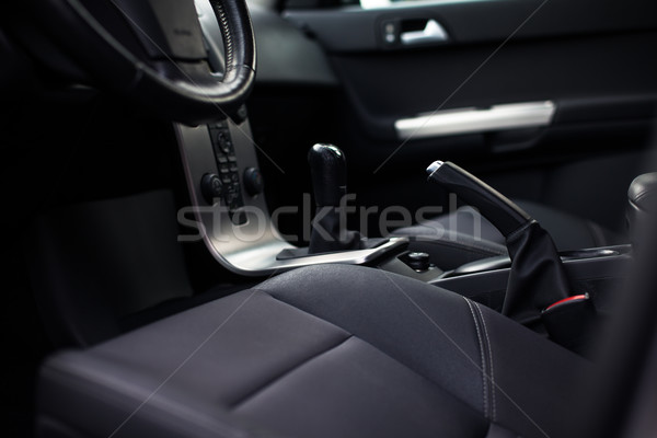 Modern car interior (color toned image) Stock photo © lightpoet