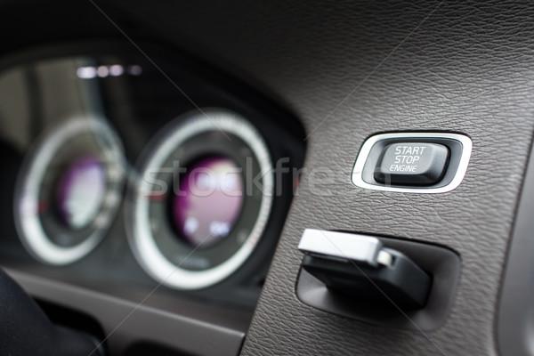 Moderne auto interieur business venster zwarte Stockfoto © lightpoet
