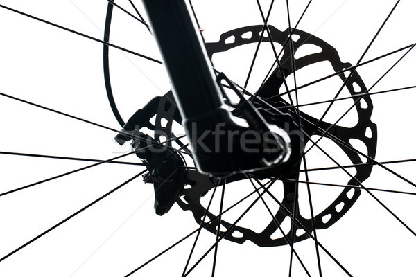 Modern MTB race mountain bike isolated on white in a studio Stock photo © lightpoet