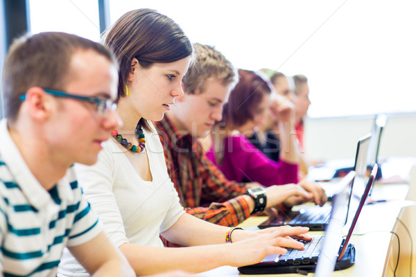 Group of college/university students in in a classroom during cl Stock photo © lightpoet