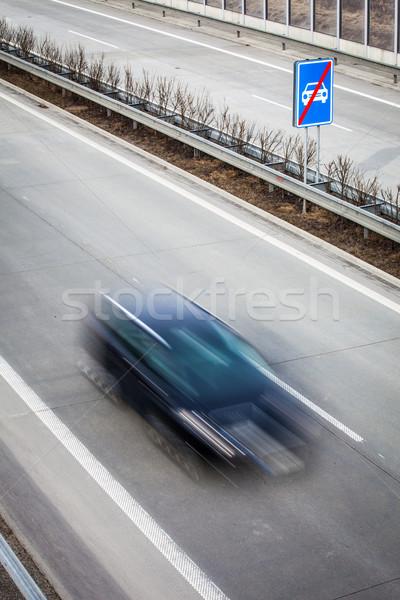 Highway traffic - motion blurred cars on a highway Stock photo © lightpoet