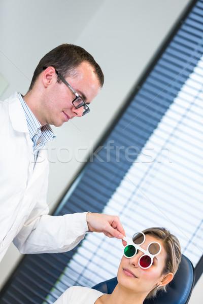 Dość młoda kobieta oczy oka kolor obraz Zdjęcia stock © lightpoet