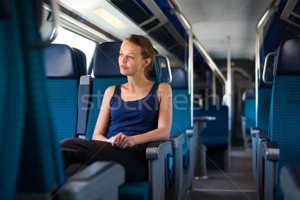 поезд бизнеса женщину девушки Сток-фото © lightpoet