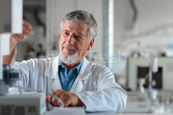 старший химии лаборатория цвета служба интернет Сток-фото © lightpoet