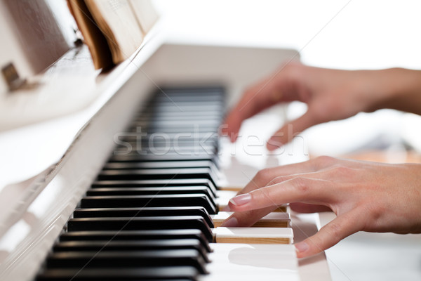 Playing Piano Stock photo © lightpoet