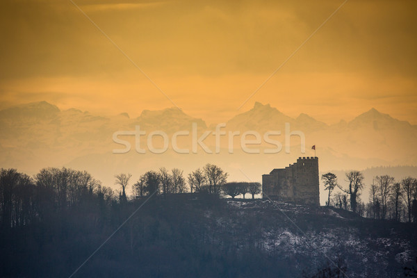 Habsburg Castle located in the Aargau, Switzerland Stock photo © lightpoet
