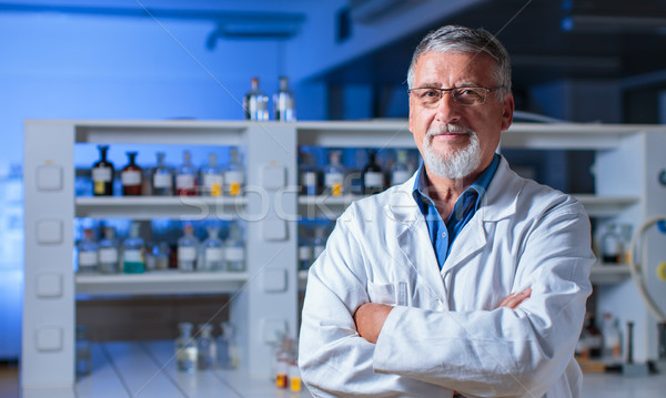 Senior chemie lab kleur computer kantoor Stockfoto © lightpoet
