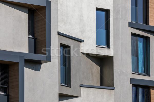 Contemporary design of multifamily living houses  Stock photo © lightpoet