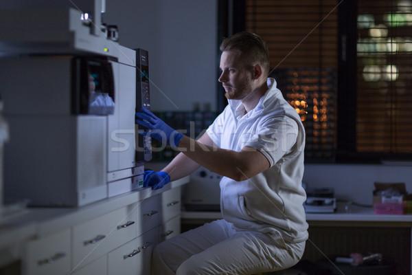 Foto stock: Retrato · masculina · investigador · fuera · la · investigación · científica