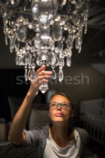 Bella lampadario moderno Foto d'archivio © lightpoet