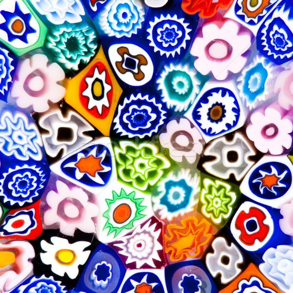 Kleurrijk moderne glas kunst textuur verschillend Stockfoto © lightpoet