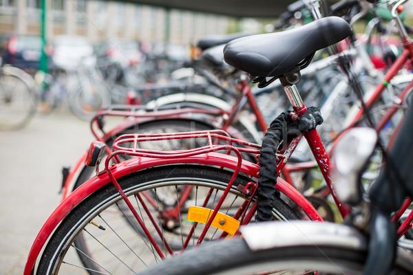 Fahrrad Mietbetrag Service viele Fahrräder stehen Stock foto © lightpoet