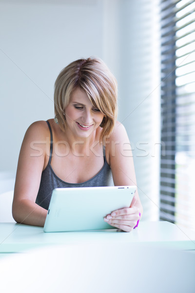 Pretty, young businesswoman/college student  Stock photo © lightpoet