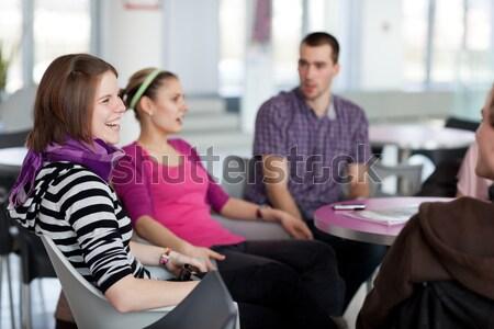 Gruppo studenti freno note Foto d'archivio © lightpoet
