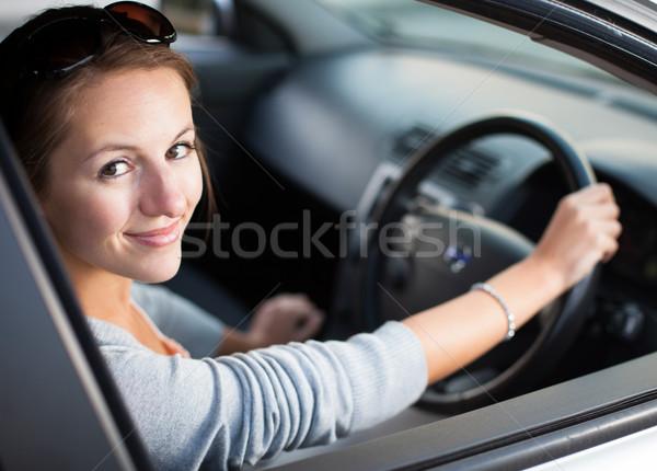 довольно вождения Новый автомобиль бизнеса дороги Сток-фото © lightpoet
