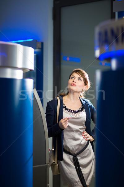 довольно деньги кредитных карт атм мелкий Сток-фото © lightpoet