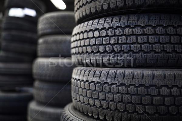 Pneus vente pneu magasin vieux utilisé Photo stock © lightpoet