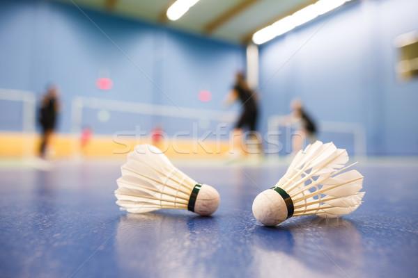 Tollaslabda játékosok versenyző előtér sekély mélységélesség Stock fotó © lightpoet