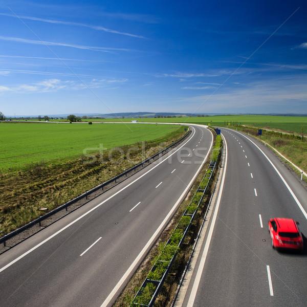 Stok fotoğraf: Karayolu · trafik · güneşli · yaz · gün · iş