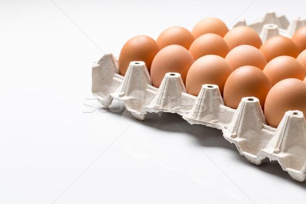 Eggs on white background Stock photo © lightpoet