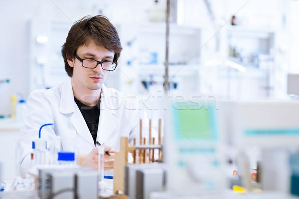 Сток-фото: молодые · мужчины · химии · студент · лаборатория