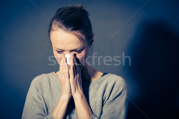 Young woman suffering from severe depression/anxiety/sadness Stock photo © lightpoet