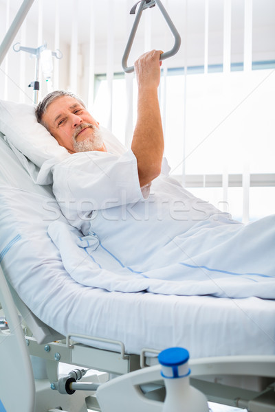 Senior male patient in a modern hospital Stock photo © lightpoet