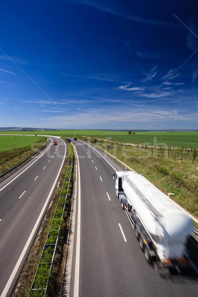 Zdjęcia stock: Autostrady · ruchu · słoneczny · lata · dzień · działalności