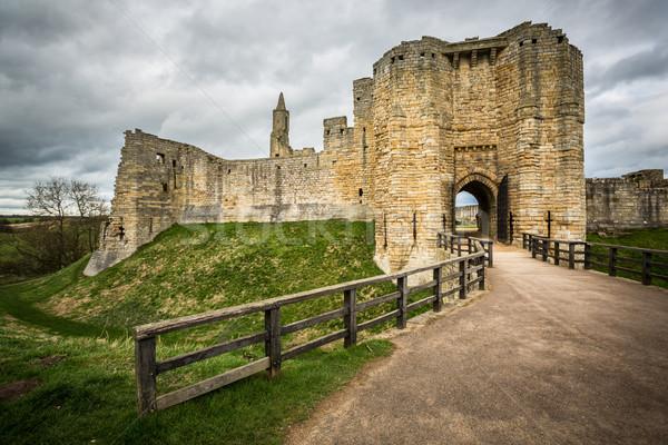Warkworth Castle Stock photo © lightpoet