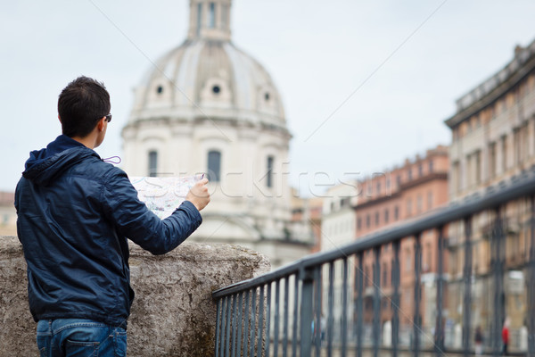 Portrait of a handsome, young, male tourist in Rome, Italy  Stock photo © lightpoet
