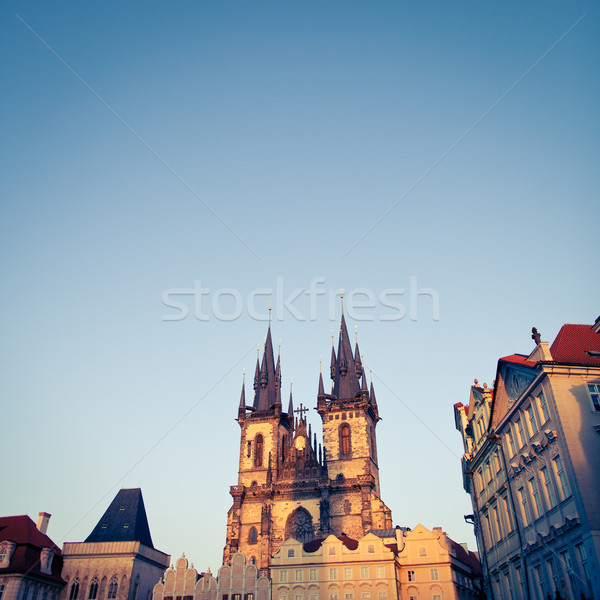 View of the Church of Our Lady before Týn (Tyn Church)   Stock photo © lightpoet