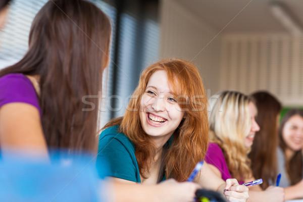 Stock foto: Studenten · Klassenzimmer · Klasse · Farbe · Bild · seicht