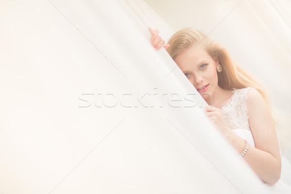 великолепный невеста свадьба день цвета изображение Сток-фото © lightpoet